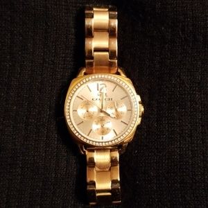 Coach Rose Gold Plated Diamond accent Watch